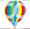 Hot Air Balloon Clipart Black And White Image