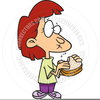 Girl Eating Sandwich Clipart Image