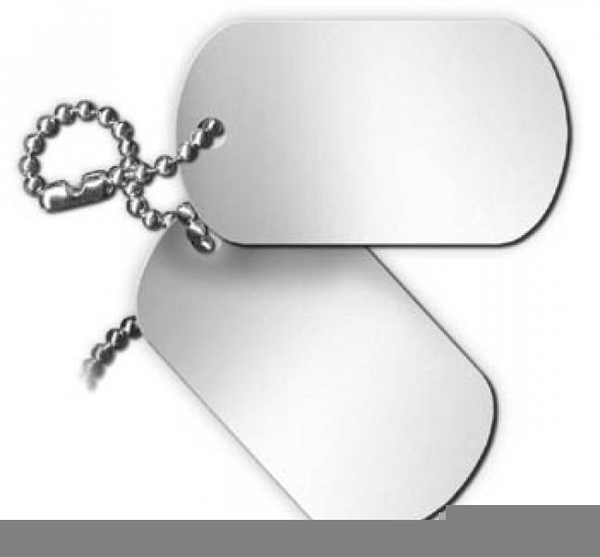 Military Dog Tag Clipart Free Images At Clker Com