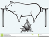 Clipart Of A Pig Roast Image