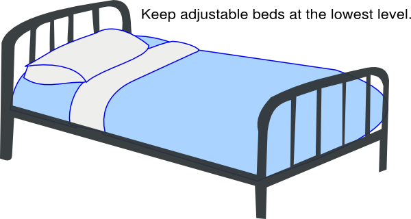 Blue Low Hospital Bed Clip Art At Clker.com   Vector Clip ...