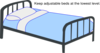 Blue Low Hospital Bed Clip Art
