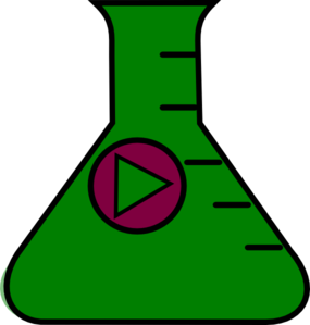Flask Erlenmeyer Start Dark Green Clip Art