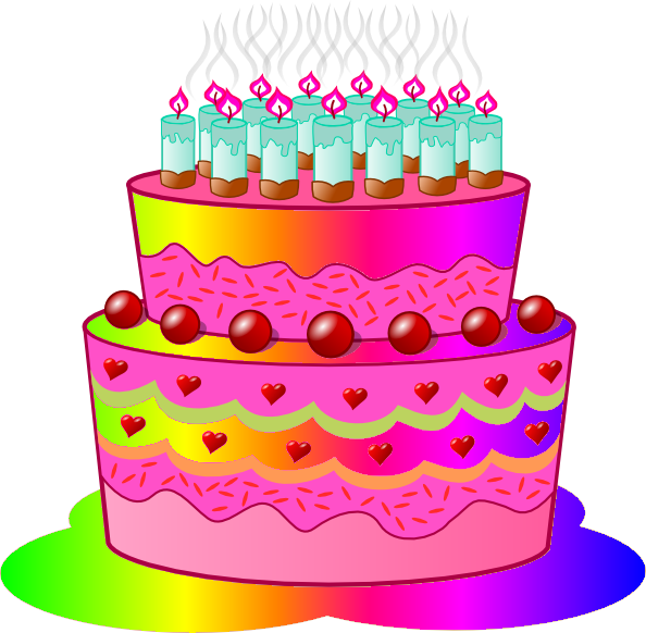 Clip Art Of Birthday Cake : Birthday Cake C Free Images at Clker.com - vector clip ...