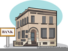 Bank Building Clipart Image