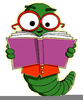 Free Bookworm Clipart Image