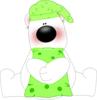 Goodnight Bear Transparent Green Image