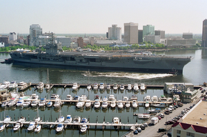 Uss Roosevelt - Transit To The Shipyards Image