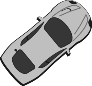 Gray Car - Top View - 40 Clip Art