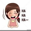Laughing Cartoon Girl Image
