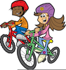 Bicycle Accident Clipart Image