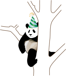 Party Panda Clip Art