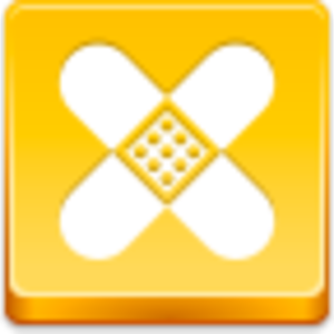 Free Yellow Button Plaster Image
