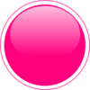 Glossy Pink Circle Button Clip Art