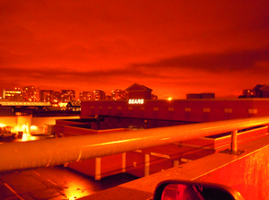 Sears At Night West Face From Roof Of Parkade Richmond Image