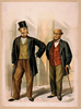 [two Well Dressed Men With Canes, Standing On Sidewalk Outside Saloon] Image
