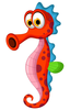 Cartoon Sea Creatures Clipart Image
