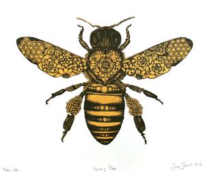 vintage bees clipart free images at clker com vector clip art rh clker com Cute Bee Clip Art vintage bee clipart free