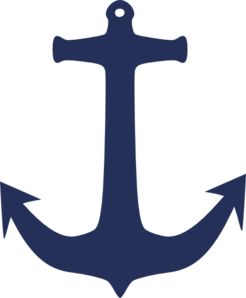 Navy Blue Anchor Clip Art
