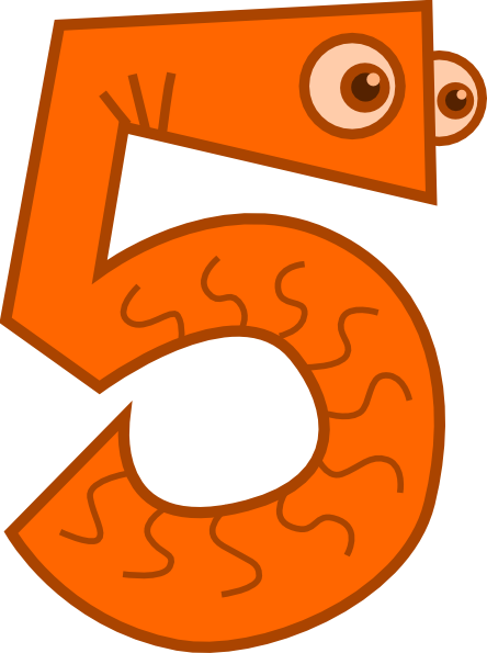 Free number 5 clipart for Free clipart numbers