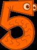 Animal Number Five Clip Art