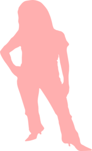 Woman In Pink Clip Art