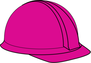 Pink Construction Hard Hat Clip Art
