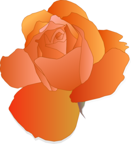 Orange Rose Clip Art