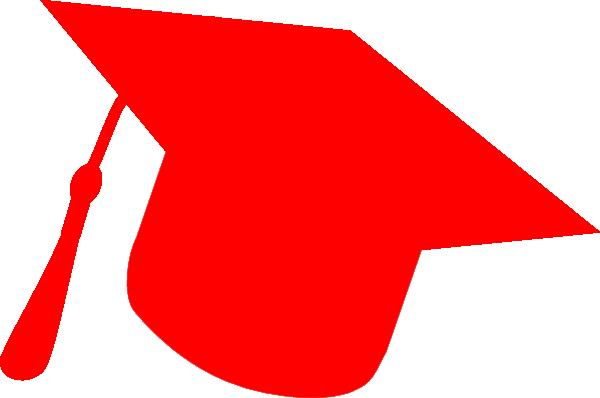 Graduation Hat Silhouette Red Clip Art at Clker.com - vector clip art ...