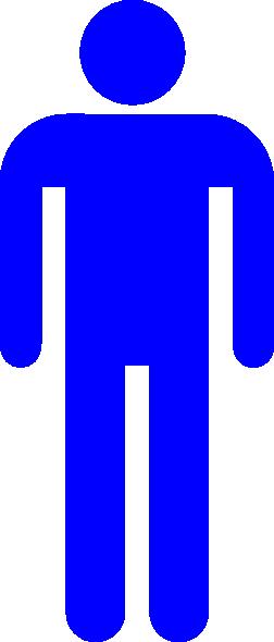Blue Restroom Man Clip Art At Vector Clip Art Online Royalty Fre