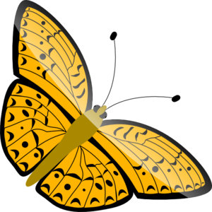 Simple Butterfly Clip Art