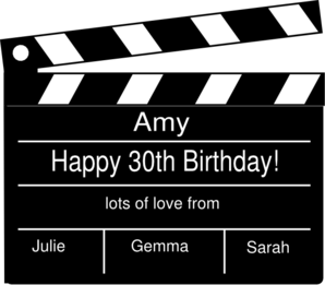 Birthday Clapperboard Clip Art