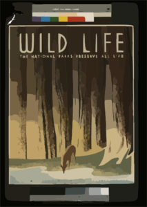 Wild Life The National Parks Preserve All Life. Clip Art