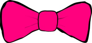 Hot Pink Bow Clip Art
