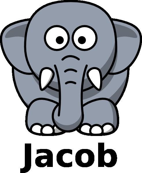 Jacob The Elephant Clip Art at Clker.com - vector clip art ...