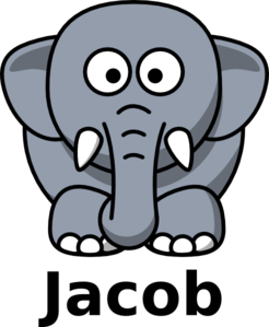 Jacob The Elephant Clip Art
