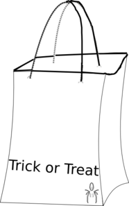 Trick Or Treat Bag Blank Clip Art