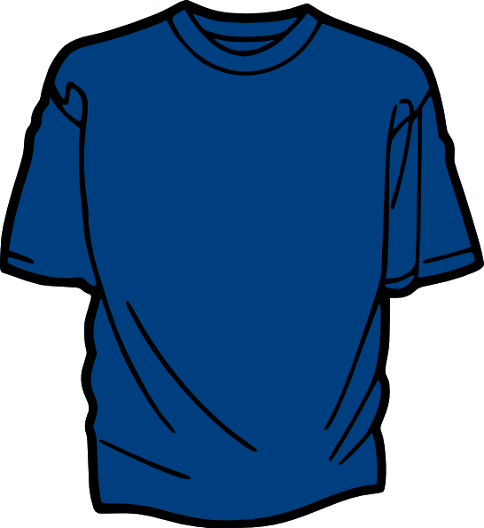 shirt template blue clip art
