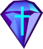 Blue Purple Diamond With Cross Clip Art