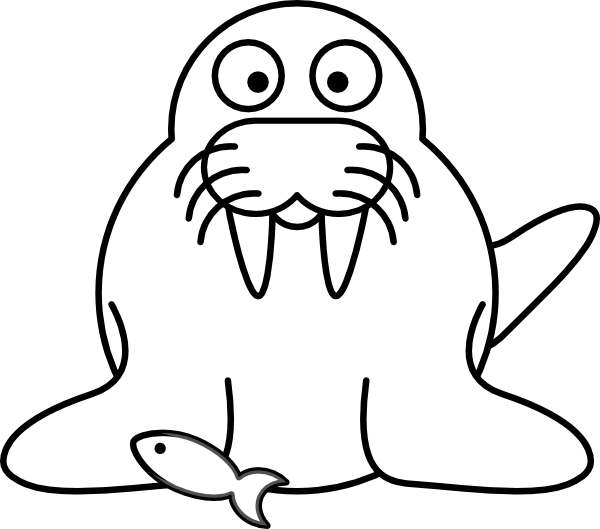 Walrus Outline Clip Art At Clker Com Vector Clip Art