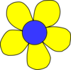 Blue And Yellow Flower Clip Art