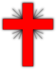 Glow Cross Red-grey Clip Art
