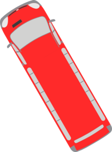Red Bus - 120 Clip Art