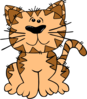 Cartoon Cat Sitting Clip Art