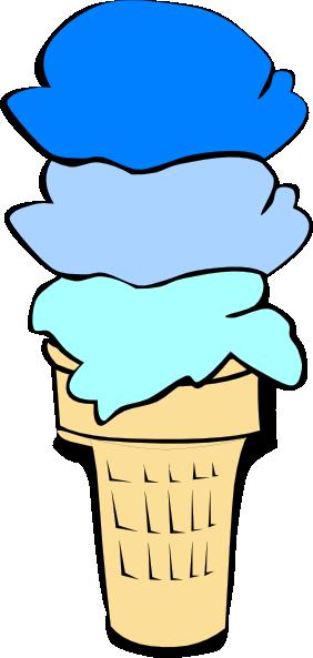 Ice Cream Cone Blue Scoops Clip Art at Clker.com - vector ...  Ice Cream Cone ...