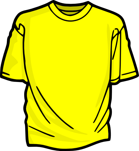 Yellow T-shirt Clip Art at Clker.com - vector clip art ...