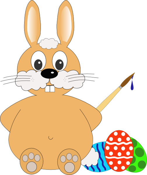 Easter Rabbit Clip Art at Clker.com - vector clip art ...