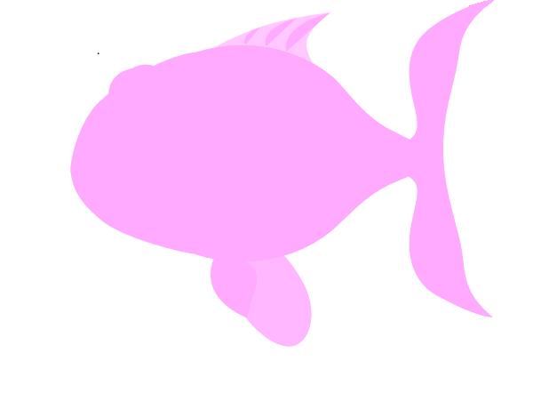 Light Pink Happy Fish Clip Art at Clker.com - vector clip ...