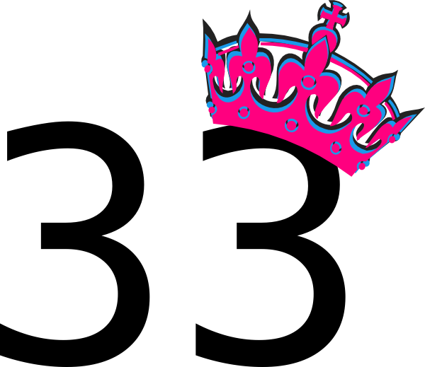 33 >> Pink Tilted Tiara And Number 33 Clip Art At Clker Com Vector Clip