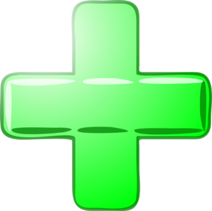 Green-plus/minus Clip Art